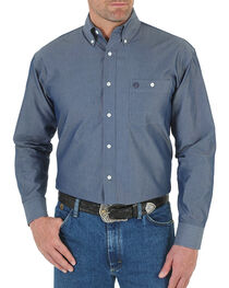 Wrangler George Strait Men's Solid Long Sleeve Shirt, , hi-res