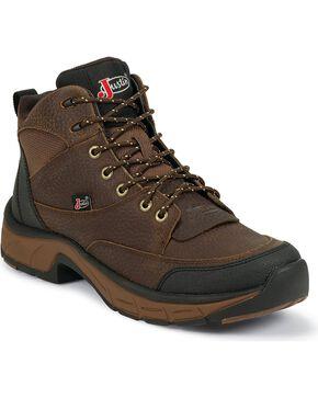 Justin Women's Waterproof Stampede Casual Work Boots, Copper, hi-res