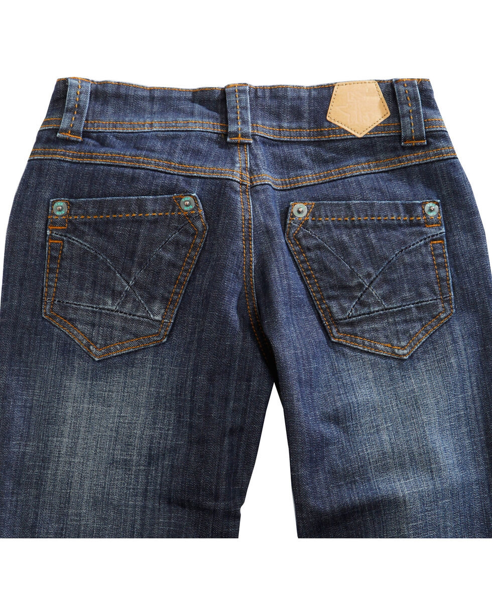 Tin Haul Women's Bootcut Rosie To Go The Go To Pieced Back Pocket Jeans, Denim, hi-res