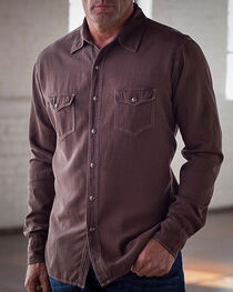 Ryan Michael Men's Chocolate Birdseye Texture Shirt, , hi-res