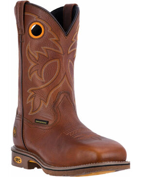 Dan Post Men's Tan Bismark Cowboy Boots - Square Toe , Tan, hi-res