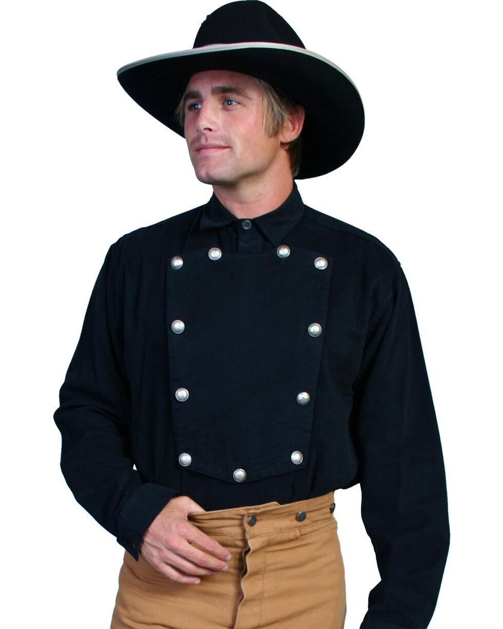 Wahmaker by Scully Brushed Twill Bib Shirt, Black, hi-res