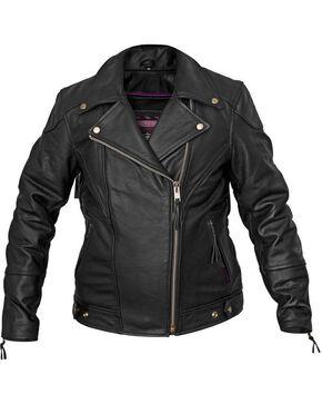 Interstate Leather Classic Jacket - Reg, Black, hi-res