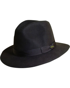 Scala Men's Chocolate Wool Felt Safari Hat, Chocolate, hi-res