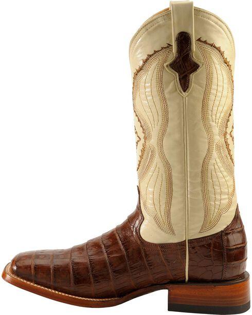 Ferrini Men's Belly Caiman Crocodile Exotic Western Boots, Chocolate, hi-res