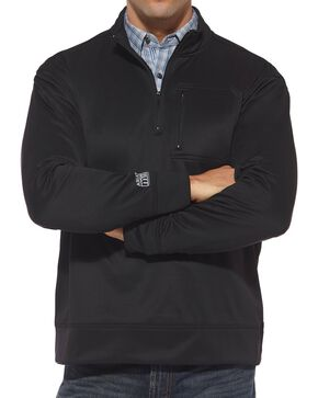 Ariat Men's Tek Quarter Zip Jacket, Black, hi-res