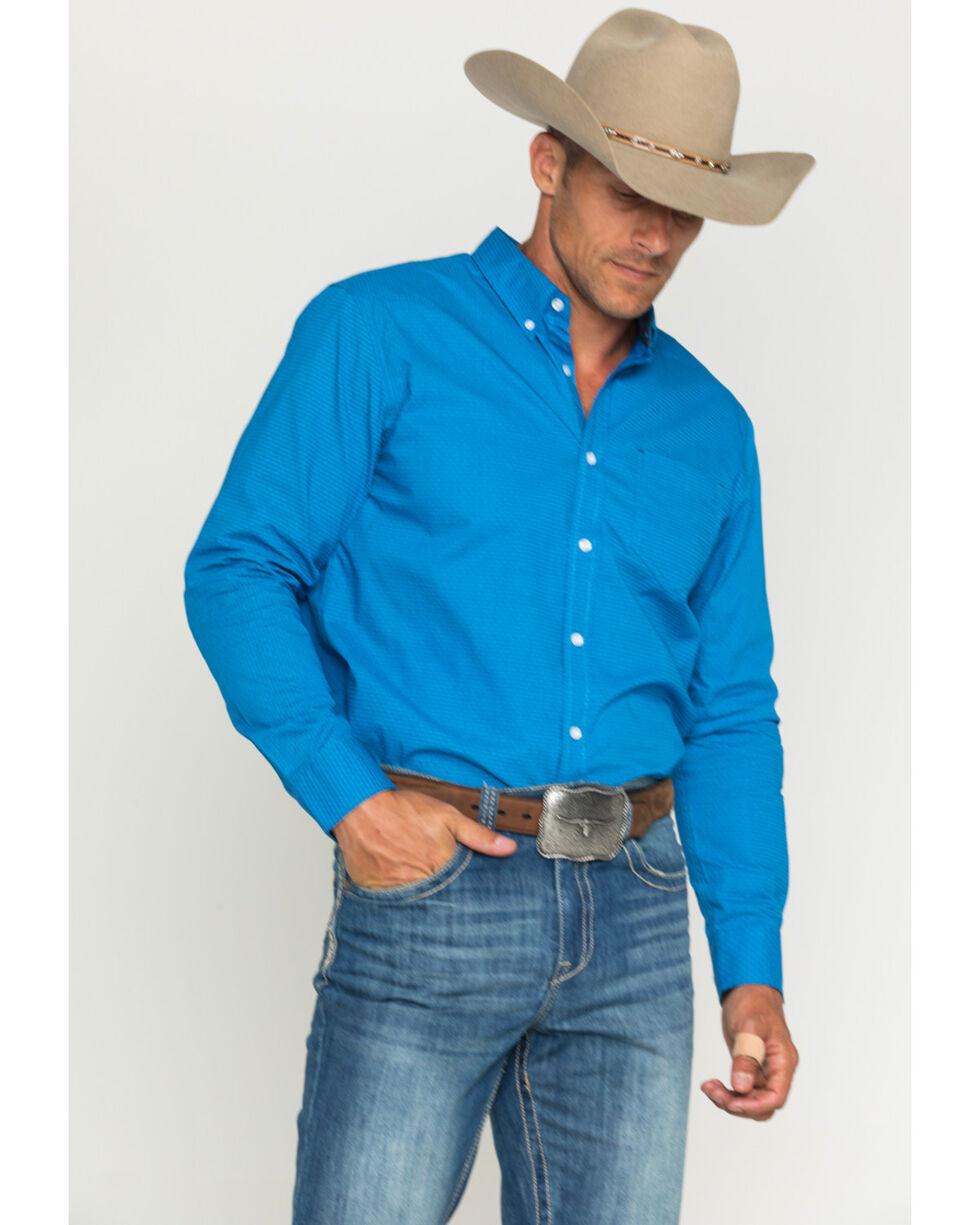 Cody James Men's Print Long Sleeve Shirt, Royal, hi-res
