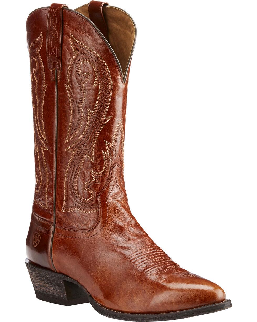 Ariat Men's Circuit Spruced Cognac Western Boots - Round Toe, Cognac, hi-res