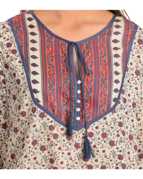Red Ranch Women's Floral Tassel Top, Print, hi-res