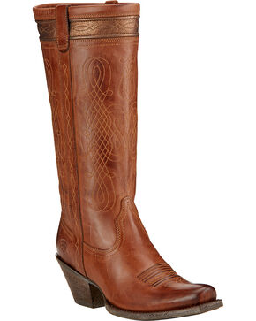 Ariat Women's Trinity Western Boots, Tan, hi-res