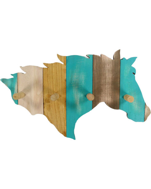 BB Ranch® Striped Horse Wall Hook , No Color, hi-res