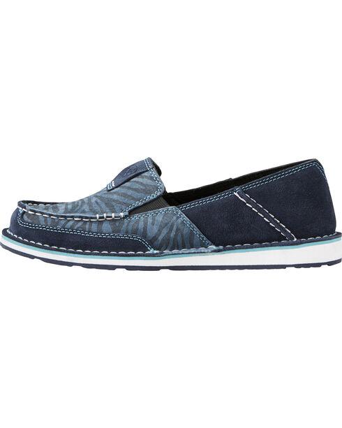 Ariat Women's Navy Eclipse Blue Zebra Cruiser Shoes - Moc Toe, , hi-res