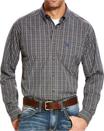 Ariat Men's Grey Barnhart Print Western Shirt , , hi-res