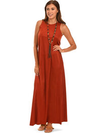 Cowgirl Justice Women's Faux Suede Maxi Dress, , hi-res