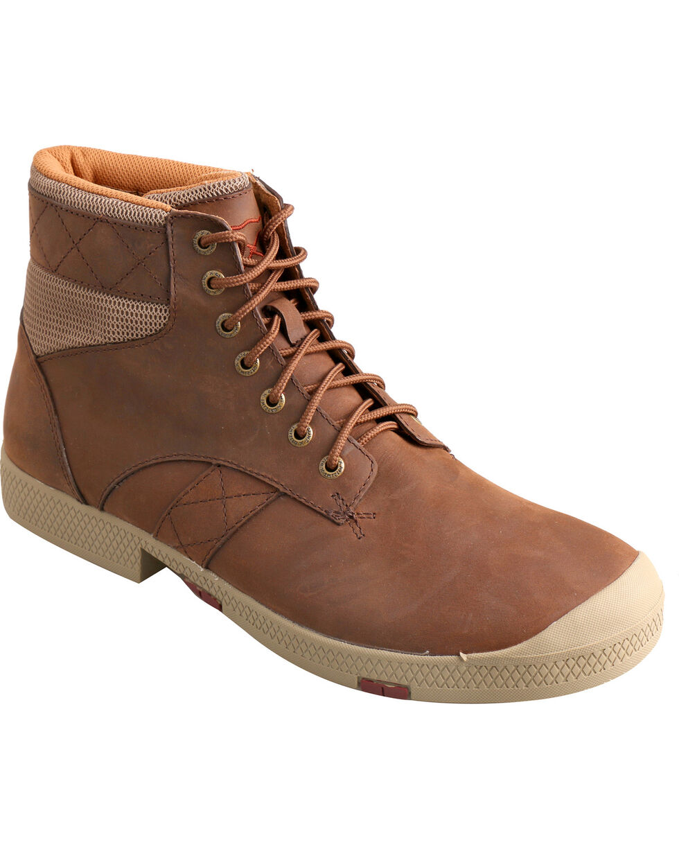 Twisted X Men's Lace-Up Round Toe Casual Boots, Crazyhorse, hi-res