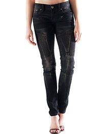Grace in LA Women's Dark Wash Skinny Jeans , , hi-res