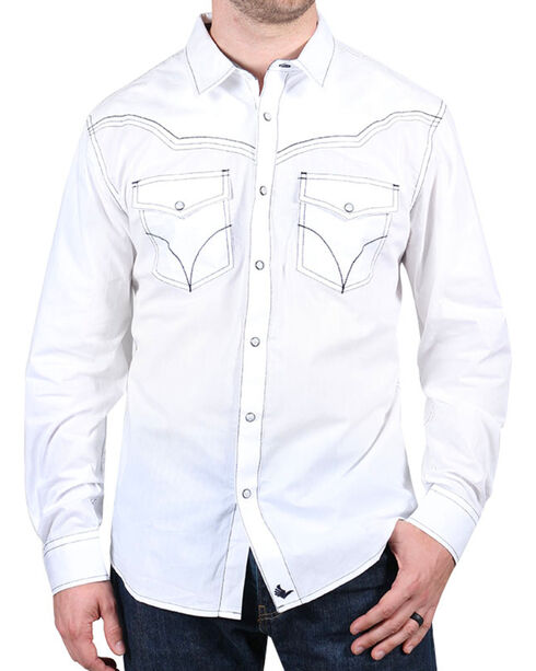 Cody James® Men's White Sands Long Sleeve Shirt, White, hi-res