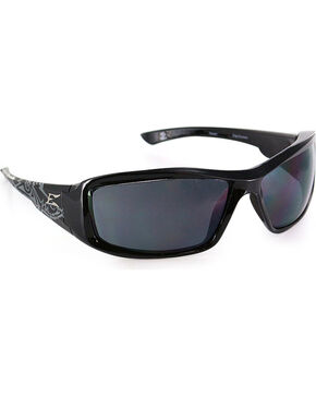 Edge Eyewear Brazeau Skull Safety Sunglasses, Black, hi-res