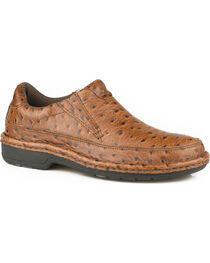 Roper Men's Tan Pioneer Casual Slip-On Shoes , Tan, hi-res