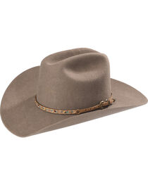 Phunky Horse Floral Leather Hat Band , Beige/khaki, hi-res
