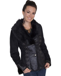 Scully Honey Creek Faux Suede and Faux Fur Jacket, , hi-res