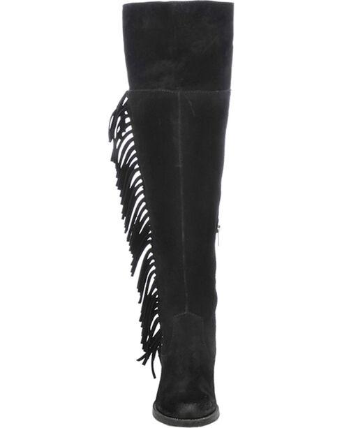 Circle G Women's Over-The-Knee Side Fringe Boots, Black, hi-res