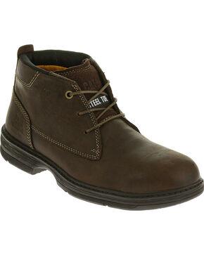 CAT Men's Inherit Mid Steel Toe Work Boots, Brown, hi-res