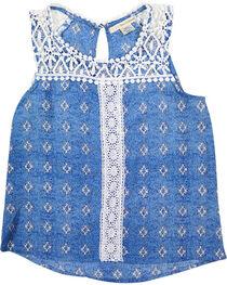 Self Esteem Girls' Southwest Crochet Tank Top , , hi-res