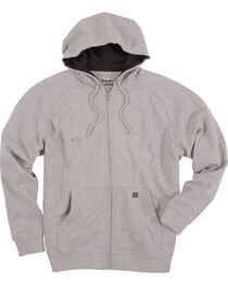 Wrangler Men's Heather Grey Riggs Workwear Hooded Sweatshirt , , hi-res