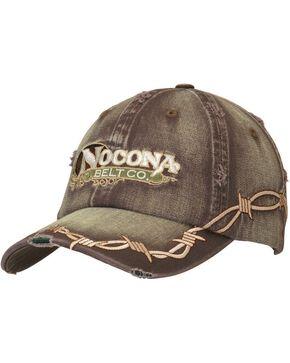 Nocona Barbed Wire Embroidered Cap, Brown, hi-res
