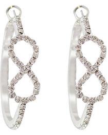 Shyanne® Women's Rhinestone Infinity Hoop Earrings, , hi-res