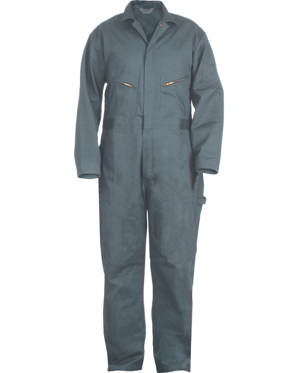 Berne Deluxe Unlined Coveralls - 56S, 58S, and 60S, Blue, hi-res