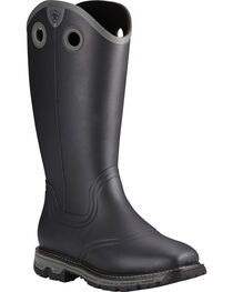 Ariat Men's Conquest Rubber Buckaroo Insulated Hunting Boots, Black, hi-res