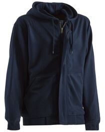 Berne Navy Flame Resistant Hooded Sweatshirt - 3XT and 4XT, , hi-res