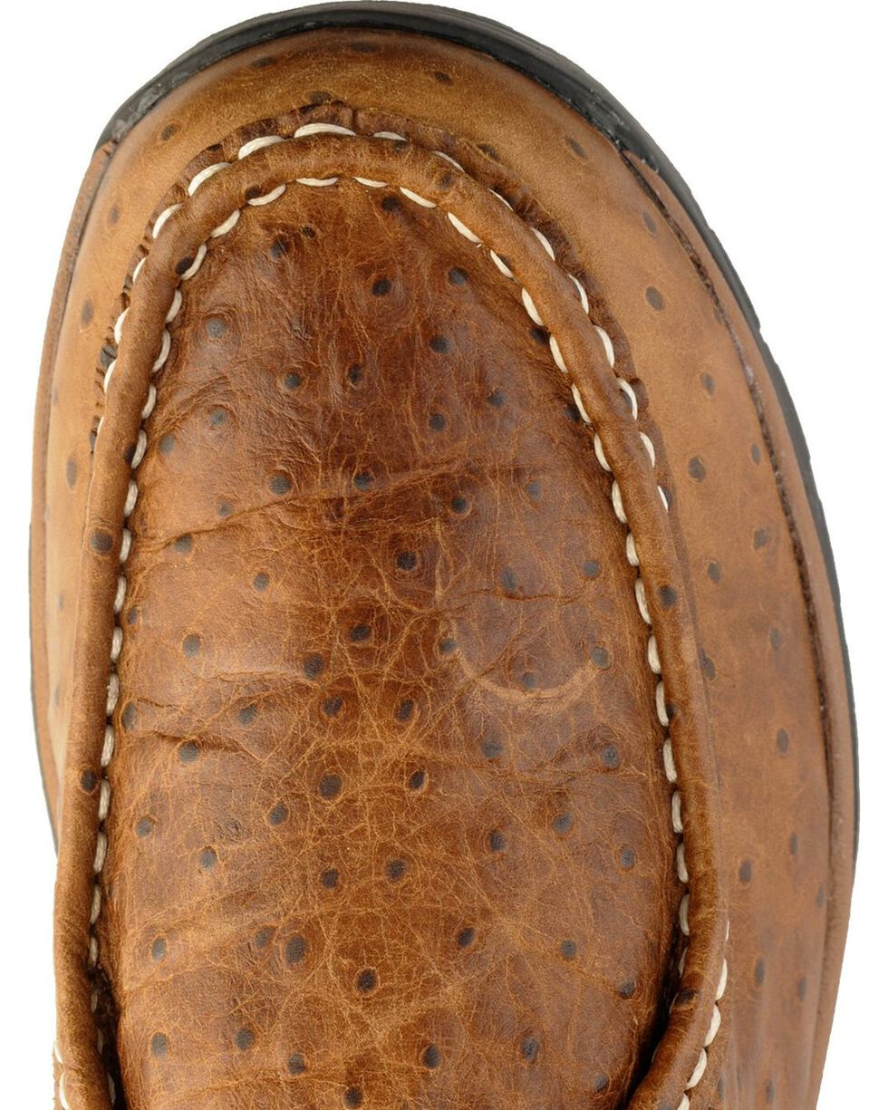 Roper Men's Ostrich Print Chukka Casual Boots, Brown, hi-res