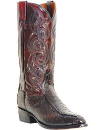 Dan Post Men's Bellevue Ostrich Leg Exotic Boots, Black Cherry, hi-res