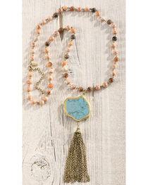 Shyanne Women's Beaded Fringe Necklace, , hi-res