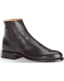 El Dorado Men's Smooth Leather Zipper Urban Roper Boots - Round Toe, , hi-res
