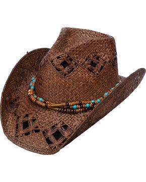 Charlie 1 Horse Women's Tijuana Dance Straw Hat, Brown, hi-res
