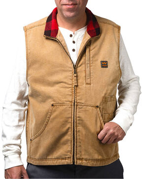 Wall's Men's Vintage Pecos Duck Vest, Brown, hi-res