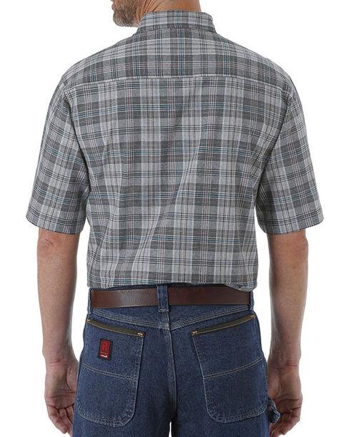 Wrangler Men's Plaid Short Sleeve Shirt - Tall, Charcoal, hi-res