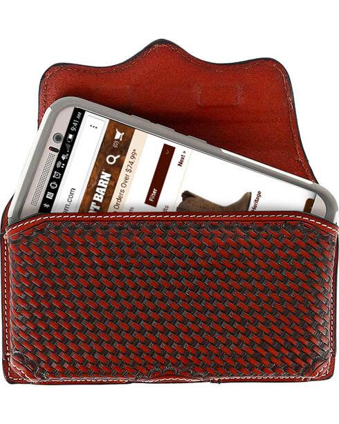 Cody James® Men's Basketweave Embossed Cell Phone Case, Tan, hi-res