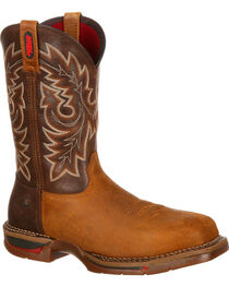 Rocky Men's Long Range Composite Toe Western Boot, , hi-res