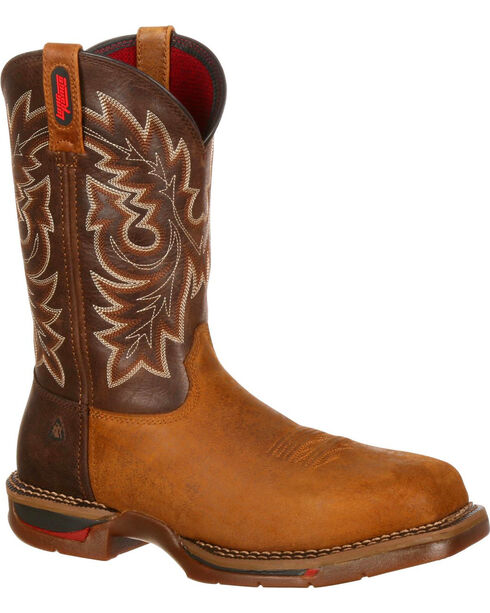 Rocky Men's Long Range Composite Toe Western Boot, Brown, hi-res