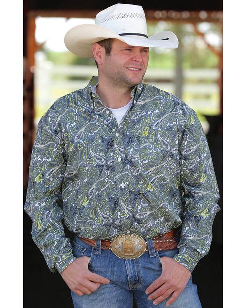 Cinch Men's Paisley Button Down Long Sleeve Shirt, Multi, hi-res