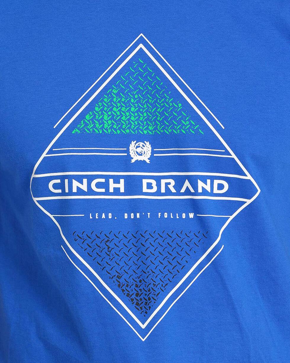 Cinch Men's Royal Blue Logo Screen Print Tee, Royal Blue, hi-res
