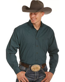 Tuf Cooper Performance by Panhandle Medallion Print Western Shirt , , hi-res