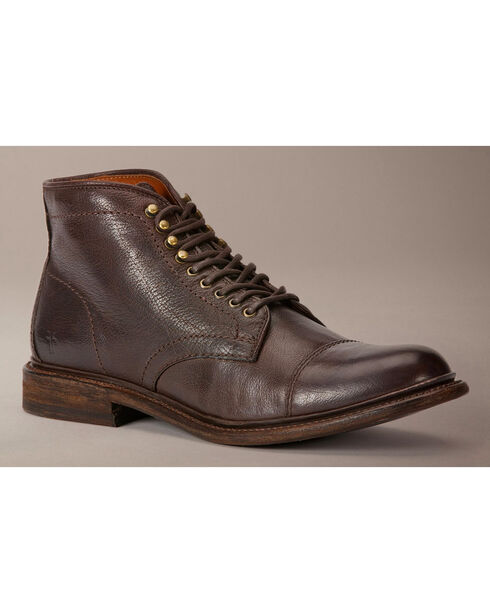 Frye Jack Lace Up Boots, Dark Brown, hi-res