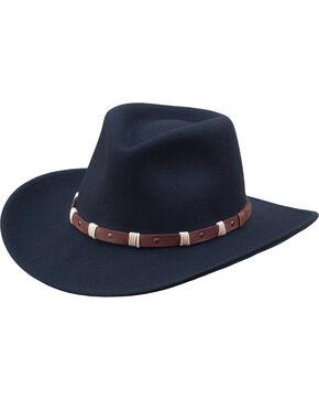 Black Creek Men's Black Crushable Wool Felt Western Hat, Black, hi-res