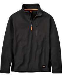 Timberland Men's Studwall Textured 1/4 Zip Fleece Pullover , Black, hi-res